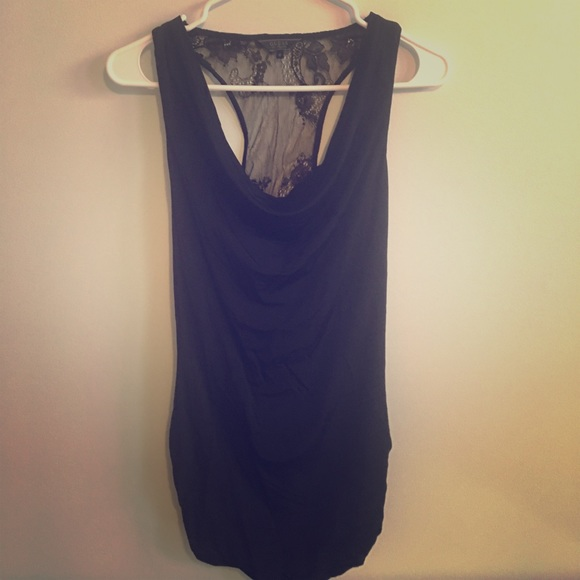 Guess Tops - Black lacy guess tank